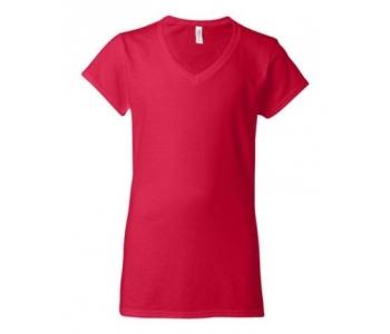 Naiste T-särk Softstyle® V-kaelusega