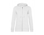 Organic Zipped Hooded naiste pusa