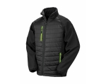 Meeste Black Compass Padded Softshell